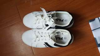 Fila White and Black Shoes