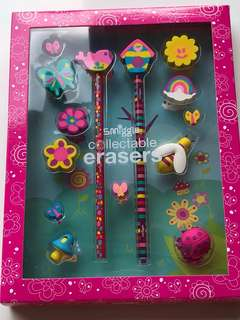 Smiggle collectible erasers