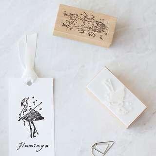 (PO) Pentagram Animals Wooden Stamp