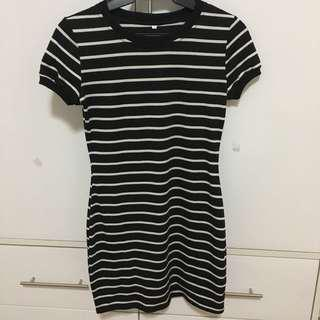 Striped Bodycon Shirt Dress