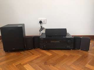 5.1 Home Theater System - Onkyo SR608 Receiver and Definitive Surround Speakers with Subwoofer