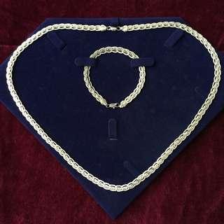925 Sterling Silver Necklace and bracelet