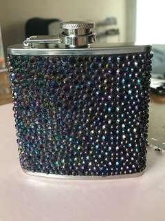 6oz bejeweled hip flask