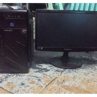 core i3 system unit with led monitor
