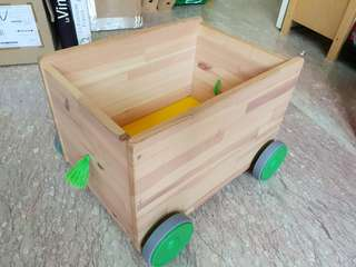IKEA Flisat wooden toy box wheels