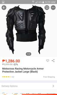 Motorcycle armor LARGE