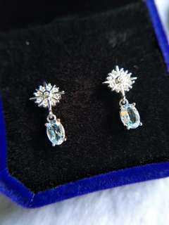 🚚 Topaz 925silver Earrings