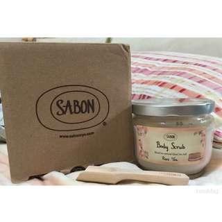 Sabon玫瑰茶語身體磨砂膏