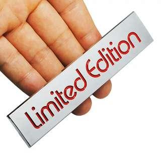 Stiker Emblem Mobil 3D ABS Limited Edition