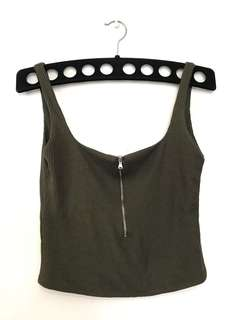 sleeveless crop top (Zara)