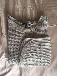 Toi et Moi Grey knit jumper - S