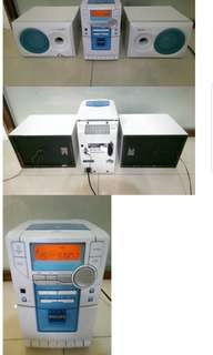 Philips Micro System with radio CD cassette