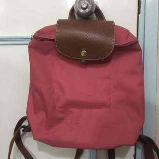 粉紅色Longchamp Backpack 背包