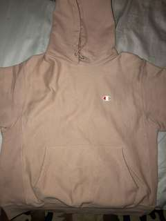 Champion reverse weave hoodie rose size Large