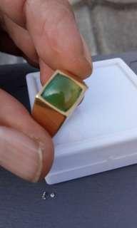 Natural bacan doko majiko kristal multi colour model kotak emban kuningan size 7