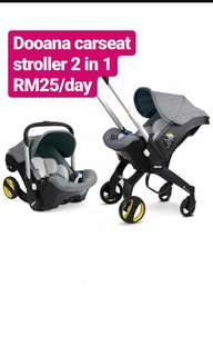 Doona infant 2 in 1 carseat stroller for rental