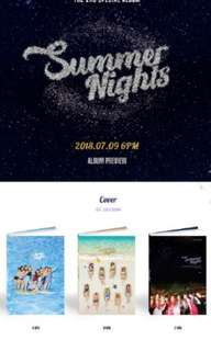 "(Last Call Group Order) TWICE Summer Special Album ""Summer Nights"""
