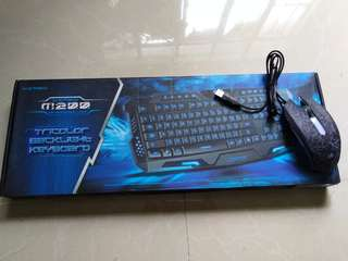 Gigaware M200 Gaming Keyboard And Zeus M-110 Gaming Mouse