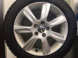 Tyre & Rim 15 Vw Vento