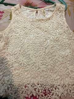 Kashieca white floral crop top