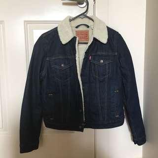 Levi's Denim Sherpa Shearling Jacket