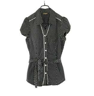 🚚 專櫃品牌【niceioi】黑白圓點點短袖襯衫S