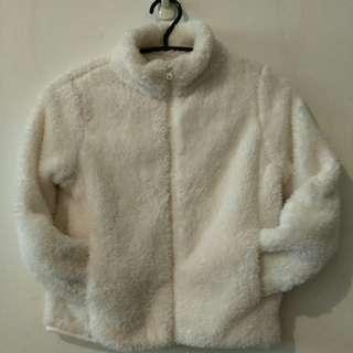 🚚 毛絨外套。女童冷氣房冬日居家小外套(白色8號)