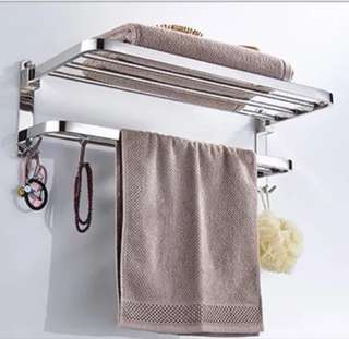 Flippable stainless steel Towel Rack