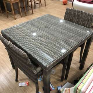 Outdoor Table with 2 chairs