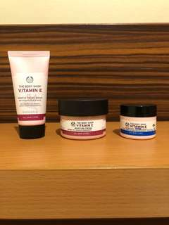 NEW vitamin E (gentle facial wash, moisture cream, night cream) TRAVEL SIZE KIT