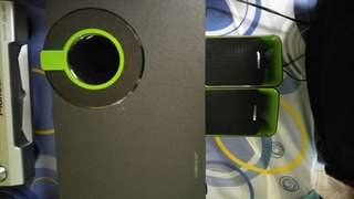 USED speaker SONICGEAR + WOOFER good for laptops, mobile phones, iPad, apple phones, computers and dj
