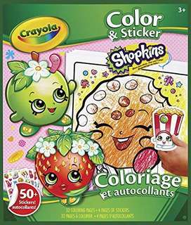 Crayola Shopkin colour and stickers book