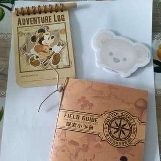 香港廸士尼酒店住宿探索小手册,Duffy memo 纸,adventure log book