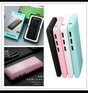3usb charger powerbank with clear screen 60000mah