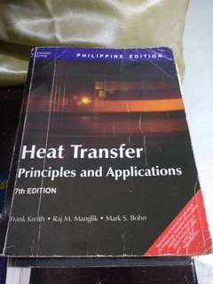 Heat Transfer - Cengage learning / Probability & statistics - Pearson