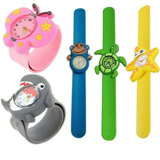 Jam tangan Anak import model binatang Lucu