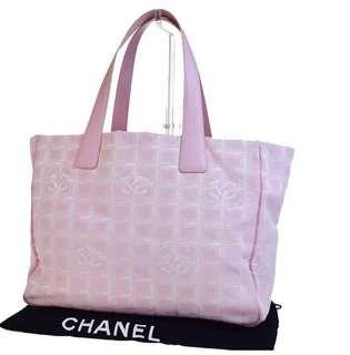 Chanel粉紅旅行袋/運動袋/媽媽袋