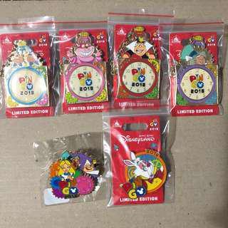 香港 迪士尼 徽章 Disney Pin PIN GO full set