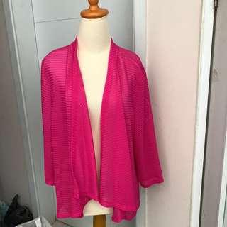 Cardigan rajut hot pink outerwear