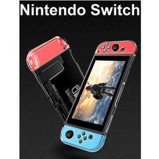 🚚 Nintendo Switch 3 in 1 Transparent Crystal Clear Hard Cover