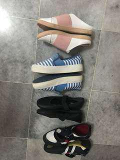Assorted shoes( vincci, bata, Larrie sports)