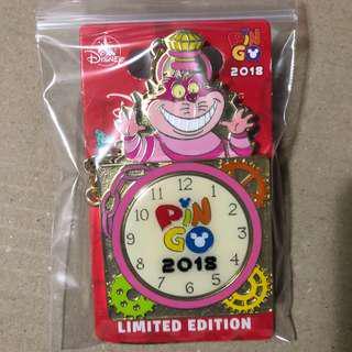 香港 迪士尼 徽章 Disney Pin PIN GO PINGO 妙妙貓