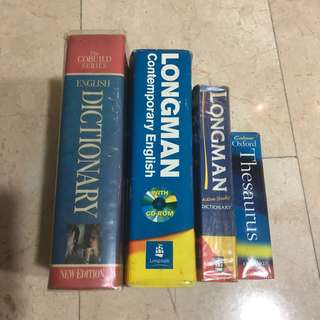 Dictionary Oxford Longman Thesaurus Etc & include disc for some