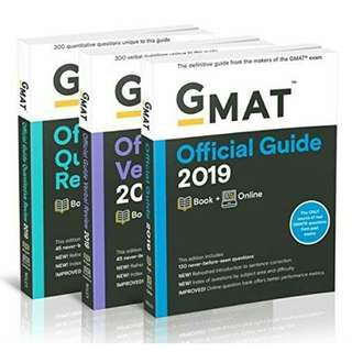 🚚 [Brand New] GMAT Official Guide 2019 Bundle: Books + Online