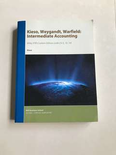 Kieso, Weyfandt, Warfield accounting textbook