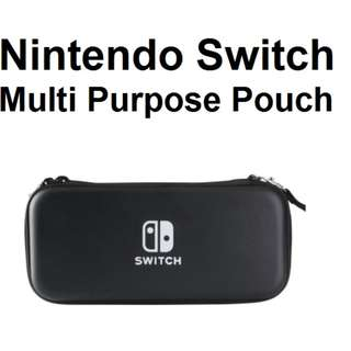 🚚 Nintendo Switch Premium Black Protective Zipper Bag Pouch Cover
