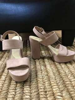 Charles & Keith Pale Pink Platform Sandals