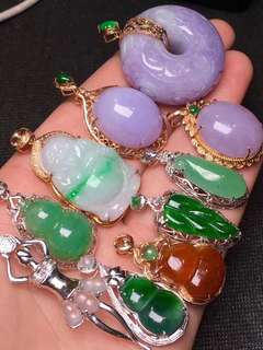 Jade pendants type A