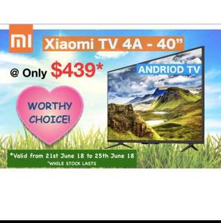 "Tv xiaomi tv 4A 32""40""43"" inches smart Android tv built in mi box"