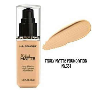 L.A truly matte foundation